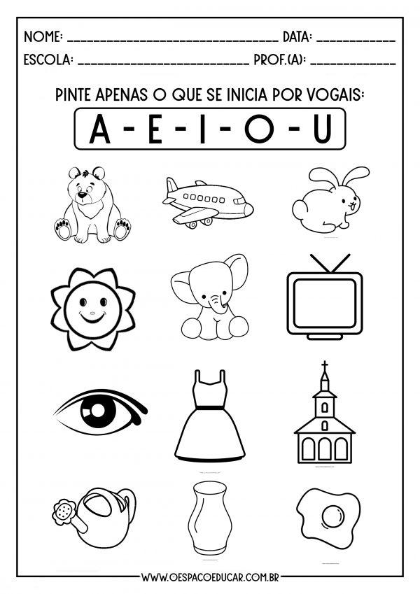 Educação Infantil: atividades para trabalhar as vogais