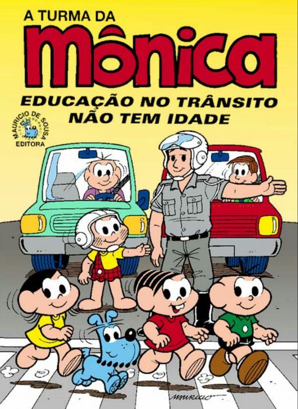 """Gibi Turma da Mônica em """"Educação no trânsito não tem idade"""""""