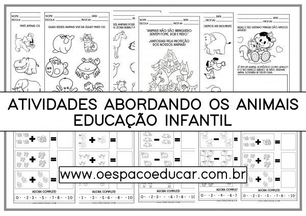 Educação Infantil: atividades abordando os animais