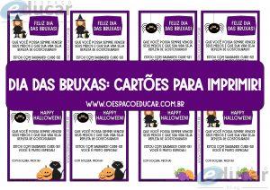 Dia das bruxas: cartões para imprimir!
