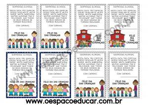 Dia das crianças: recados para imprimir!
