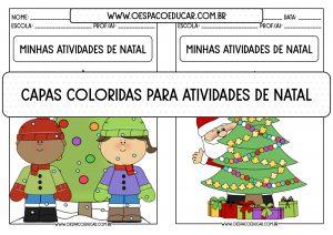 """Capas coloridas """"Minhas atividades de Natal""""!"""