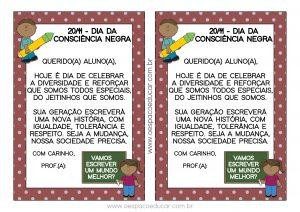 Consciência Negra: cartão para imprimir