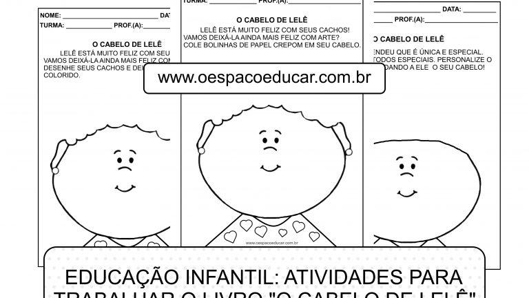 """Educação Infantil: atividades para trabalhar o livro """"O cabelo de Lelê"""""""