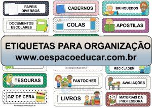 Organização: etiquetas para organizar armários, prateleiras e pastas!