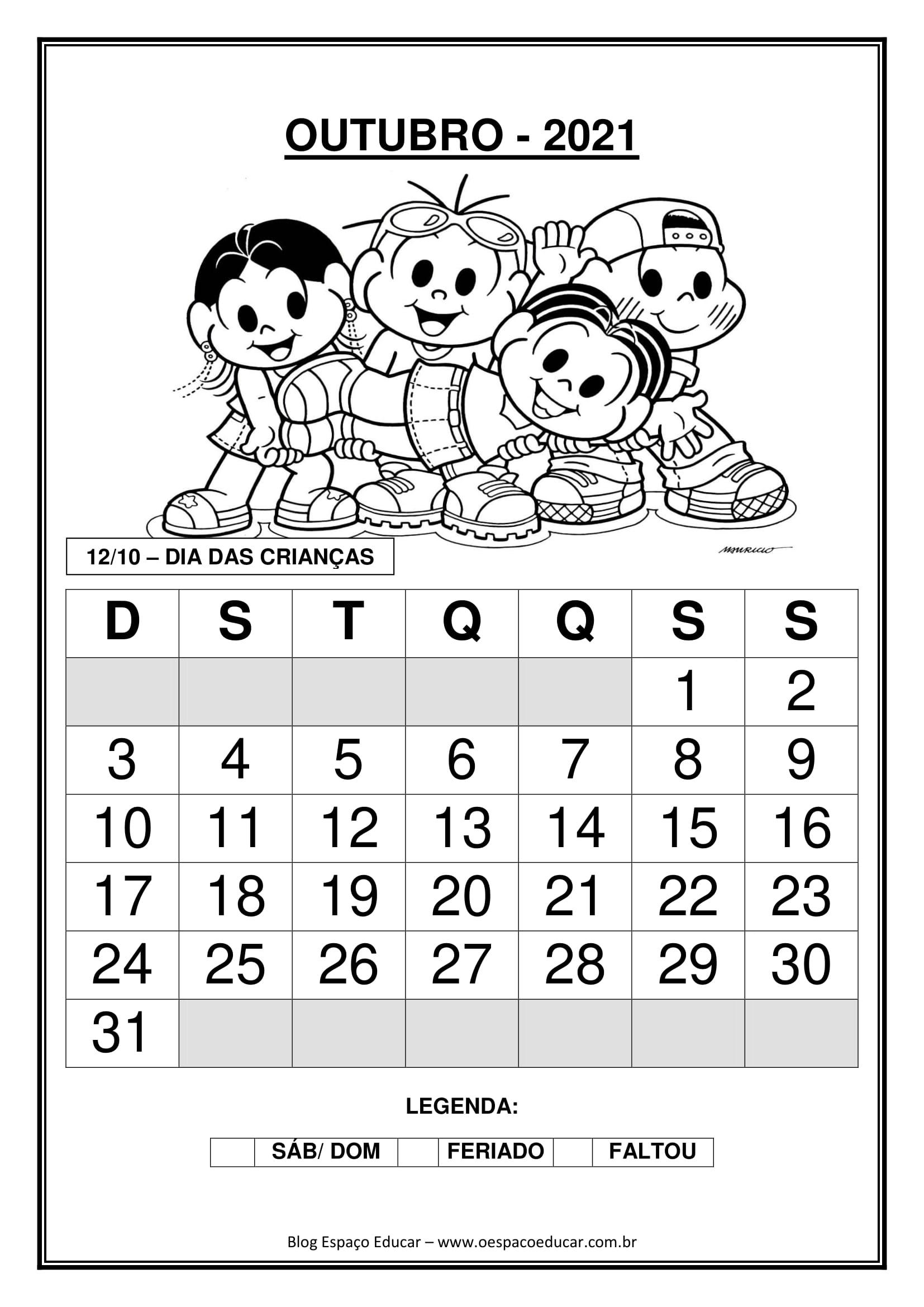 Calendarios 2021 Com A Turma Da Monica Blog Espaco Educar