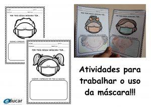 Educação Infantil: atividades que abordam o uso da máscara!