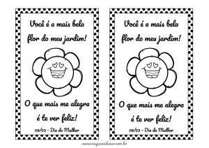 Datas comemorativas: cartão dia da mulher para imprimir e presentear!