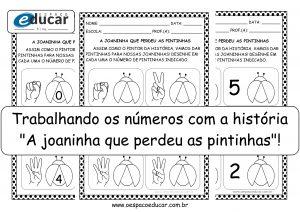 """Educação Infantil: trabalhando números com a história """"A joaninha que perdeu as pintinhas""""!"""