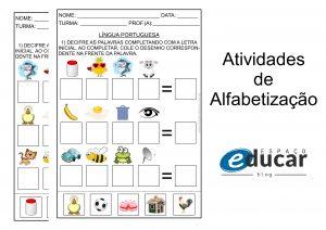 Alfabetização: atividade decifrando palavras para imprimir!