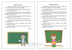 Orações do Professor e da Professora para imprimir!
