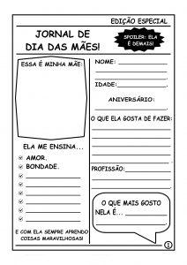 Dia das mães: Jornal edição especial da mamãe!