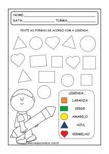 Educação Infantil: atividades para trabalhar as formas geométricas!