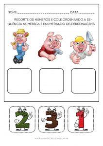"""Educação Infantil: atividades para trabalhar a história """"Os três porquinhos""""!"""