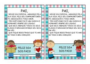 Dia dos Pais: recado especial para imprimir!