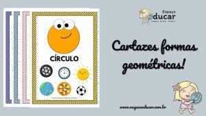Cartazes das formas geométricas!