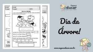 Educação Infantil: atividades para o dia da árvore!