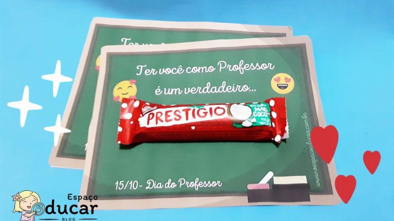 Dia dos Professores: Cartão prestígio!
