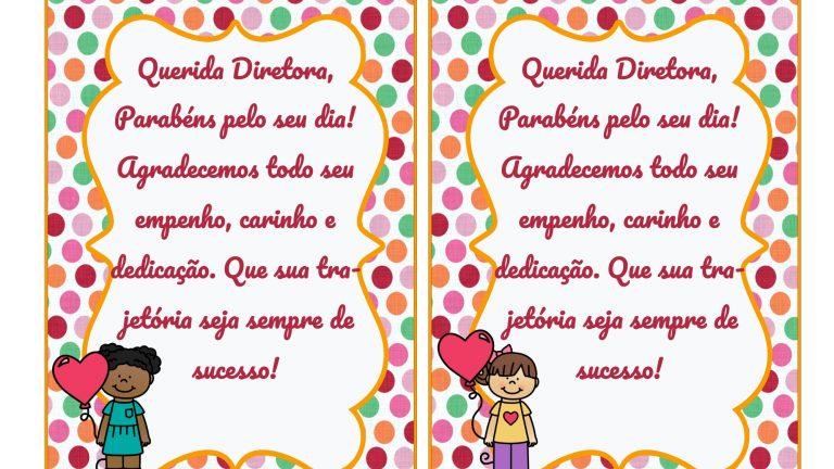 Dia do Diretor Escolar: cartão para as diretoras!